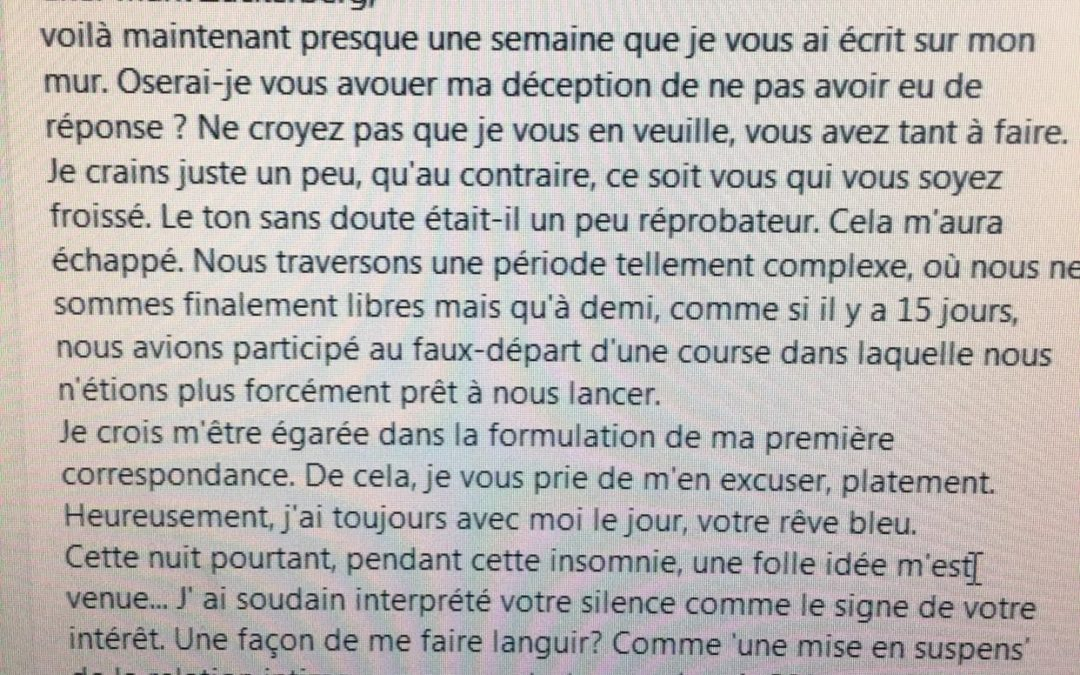 L'histoire de Marnie C. Hommage.0 à Adèle H.