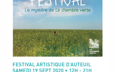 Festival la chambre verte – 2ème édition- samedi 19 septembre
