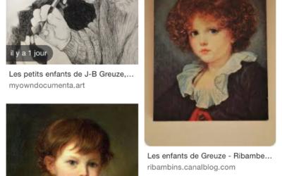 Les enfants de J-B Greuze, regardent…